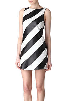ALICE & OLIVIA Striped leather dress