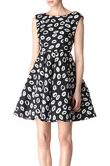 ALICE & OLIVIA Lips-printed dress