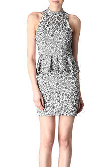 ALICE & OLIVIA Halter peplum dress