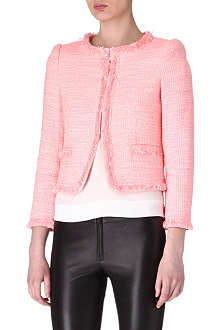 ALICE & OLIVIA Neon tweed jacket