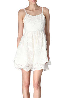 ALICE & OLIVIA Embroidered lace dress