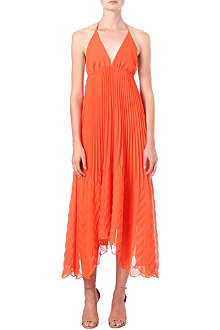 ALICE & OLIVIA Adalyn halterneck dress
