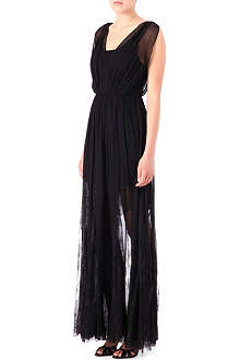 ALICE & OLIVIA Sami silk-chiffon and lace dress
