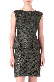 ALICE & OLIVIA Shovan lace peplum dress