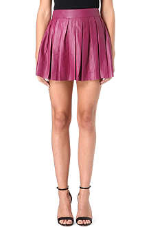 ALICE & OLIVIA Pleated leather skirt