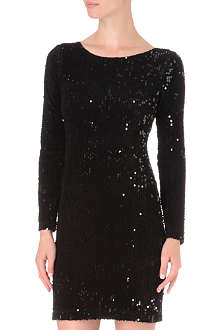 ALICE & OLIVIA Steffe sequinned open-back dress
