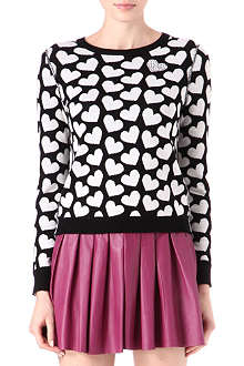 ALICE & OLIVIA Emmy Sweetheart cashmere-blend jumper