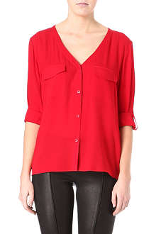 ALICE & OLIVIA Donnie button-down silk shirt