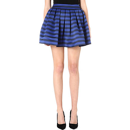 ALICE & OLIVIA Fizer satin skirt (Black/blue