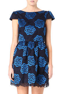 ALICE & OLIVIA Nelly puff-sleeved floral dress