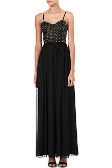 ALICE & OLIVIA Studded-corset maxi dress