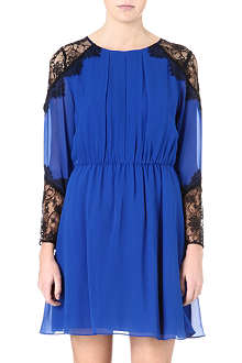 ALICE & OLIVIA Dany lace-shoulder dress