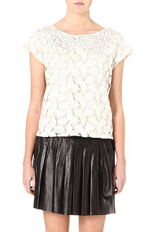 ALICE & OLIVIA Hilary embellished-neckline top