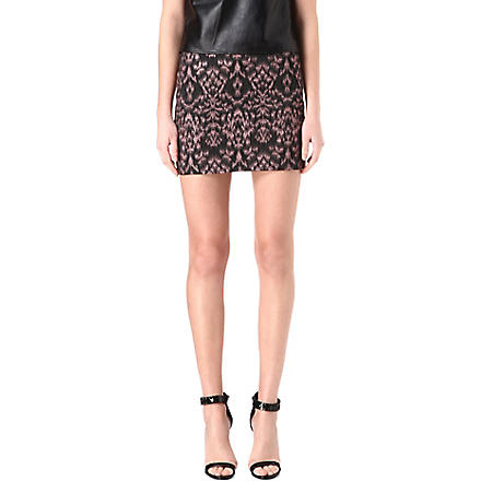 ALICE & OLIVIA Elana print mini skirt (Pink/black