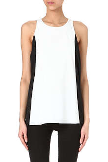 ALICE & OLIVIA Londsay colour-block crepe top