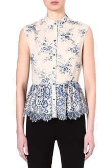 ALICE & OLIVIA Payton lace-detailed top