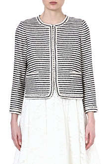 ALICE & OLIVIA Kidman striped jacket