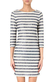 ALICE & OLIVIA Striped sequinned dress