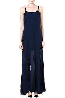 ALICE & OLIVIA Walton lace-panelled silk dress
