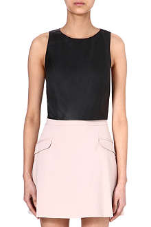 ALICE & OLIVIA Leather crop top