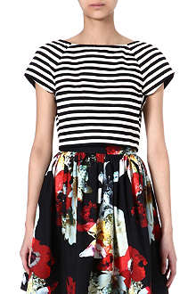 ALICE & OLIVIA Connelly striped top