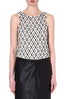 ALICE & OLIVIA Porter sequin-embellished top