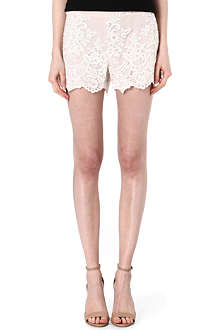 ALICE & OLIVIA High-waisted lace shorts