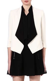 ALICE & OLIVIA Oliver draped shawl collar blazer