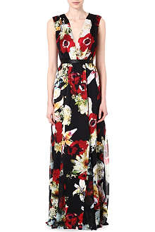ALICE & OLIVIA Triss silk maxi dress