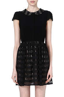 ALICE & OLIVIA Una contrast-detailing dress