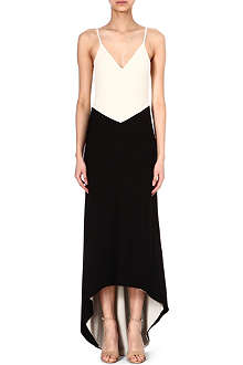 ALICE & OLIVIA Monochrome maxi dress