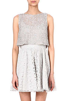 ALICE & OLIVIA Embellished lace dress