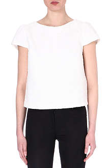 ALICE & OLIVIA Boxy-fit tweed top