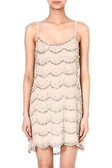 ALICE & OLIVIA Sequin embelished silk dress