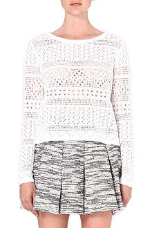 ALICE & OLIVIA Dorie cotton pointelle jumper