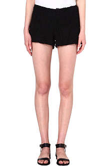ALICE & OLIVIA Crochet lace micro shorts