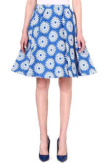 ALICE & OLIVIA Flared floral skirt