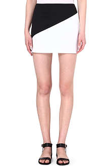 ALICE & OLIVIA Two-tone mini skirt
