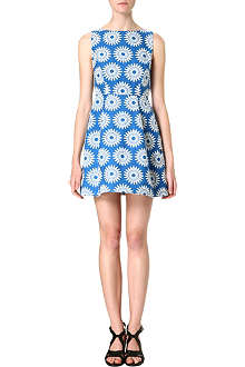ALICE & OLIVIA Epstein daisy-jacquard dress