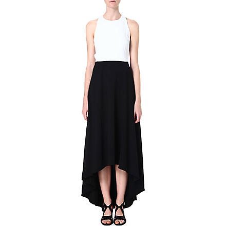 ALICE & OLIVIA Racer-back maxi dress (White/black