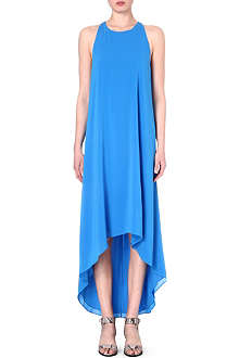 ALICE & OLIVIA Cut-out silk-blend dress
