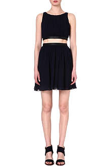 ALICE & OLIVIA Pleated crepe dress