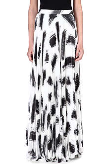 ALICE & OLIVIA Monochrome-print skirt