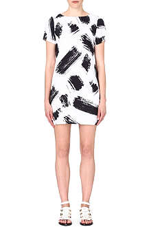 ALICE & OLIVIA Abstract print crepe dress