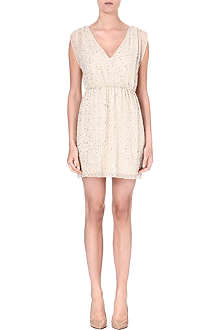 ALICE & OLIVIA Sequin-embellished silk dress