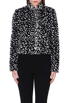 ALICE & OLIVIA Mailynn cropped faux-fur jacket