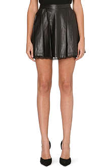 ALICE & OLIVIA Blaise pleated leather skirt