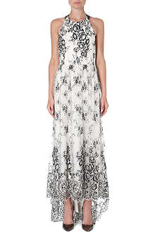 ALICE & OLIVIA Isla T-back lace dress