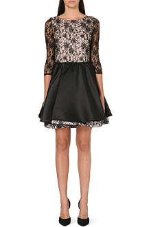ALICE & OLIVIA Katelin double-layered lace dress