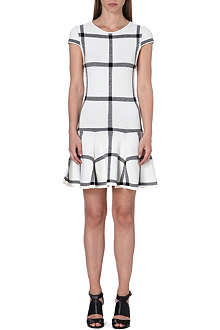 ALICE & OLIVIA Selma checked drop dress